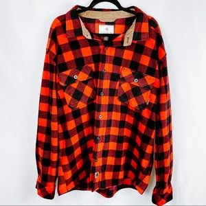 Legendary Whitetails Red and Black Plaid Flannel